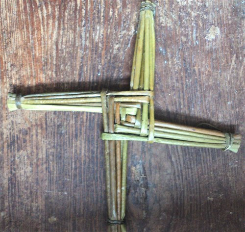 Saint Brigid's Cross made from rushes growing along the banks of the River Shannon