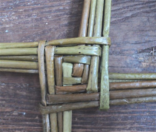 Woven centre of a traditional St. Brigid's Cross