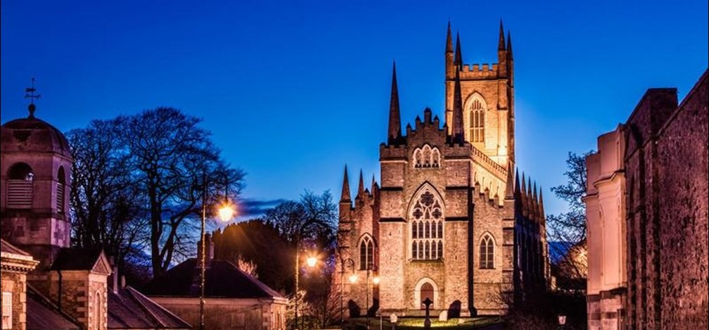 Down Cathedral at night
