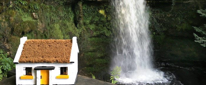 When The Little Yellow Cottage Visited Glencar Waterfall