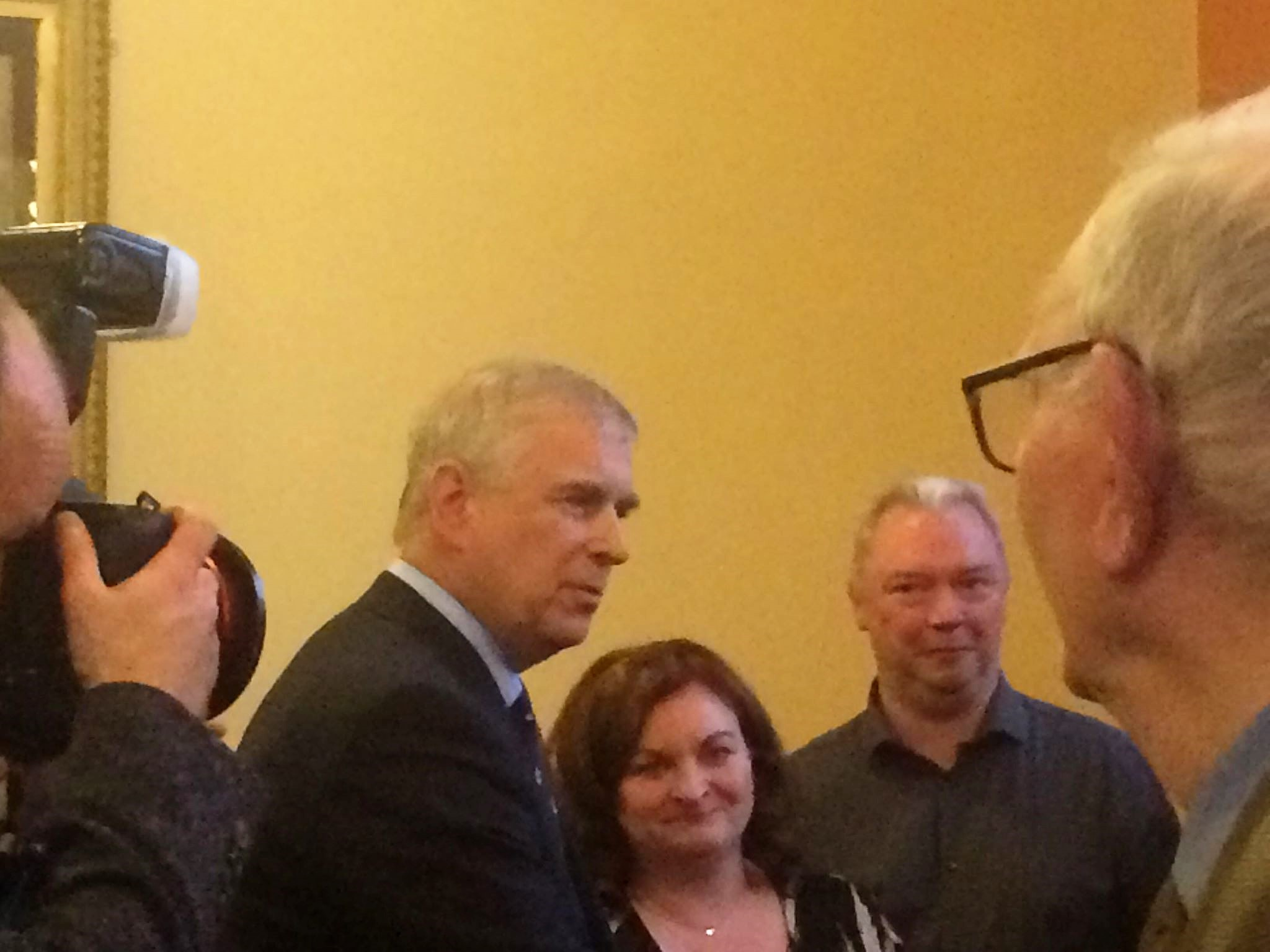 Meeting Prince Andrew at Belleek Pottery