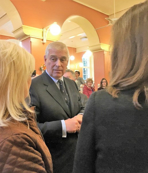 HRH The Duke Of York, Prince Andrew chats to local business women on a recent visit to Belleek Pottery