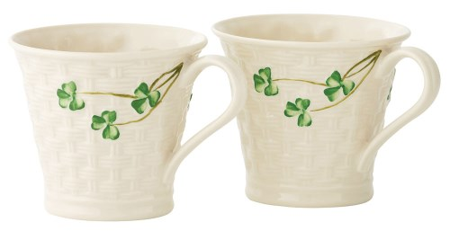 Belleek Basketweave Mugs (Set of Two)