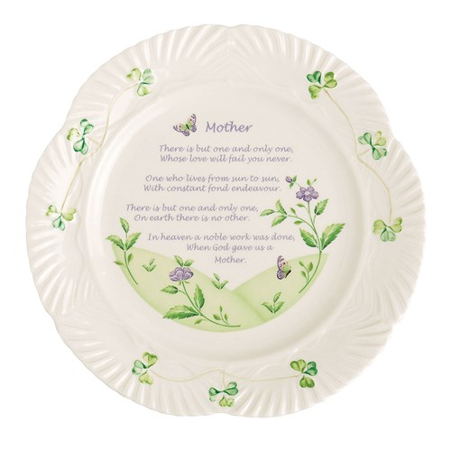 Belleek China Mother's Blessing Plate