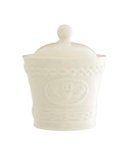 Belleek Claddagh Sugar Bowl With Lid