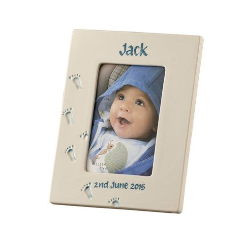 Belleek living personalised baby frame boy negle