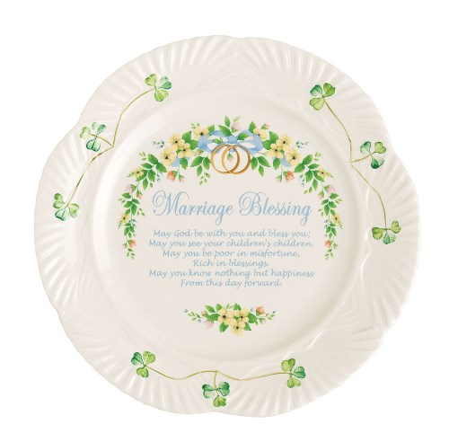 Belleek Marriage Blessing Plate