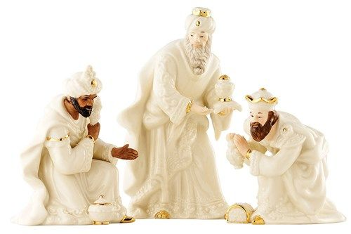 Belleek Nativity Three Kings/Wise Men Set
