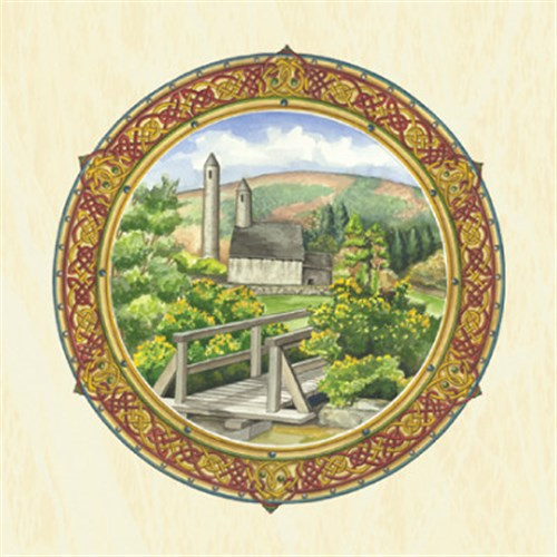 Celtic Blank All Purpose Greetings Card - Glendalough