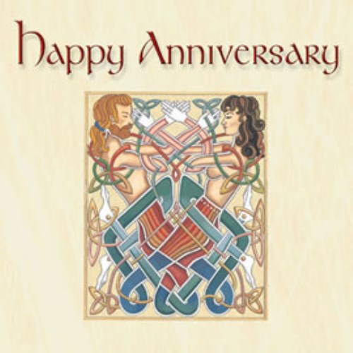 Celtic Greetings Card Happy Anniversary