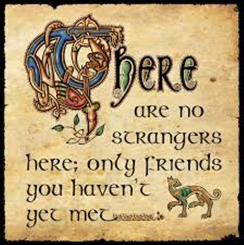 Celtic Greetings Card Irish Quote