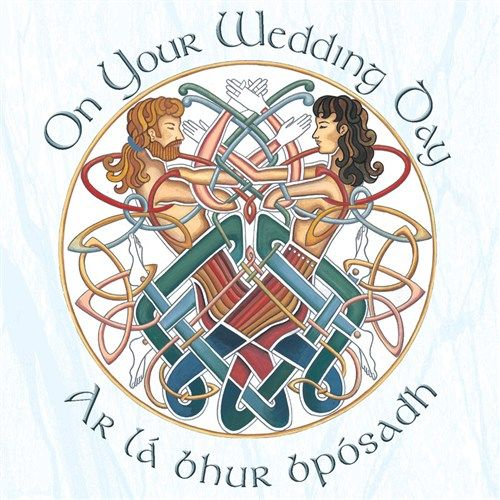Celtic Wedding Card Irish Language