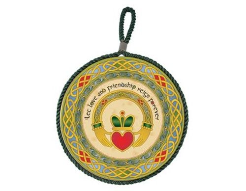 Claddagh Ring Wall Plaque Pot Holder