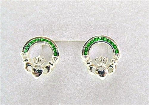 gemstones silver stud claddagh marcasite earrings with products