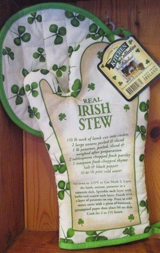 Connemara Kitchen Irish Stew Recipe Oven Mitt and Pot Holder Set