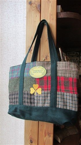 Handmade Irish Tweed Patch Shoulder Bag/Purse