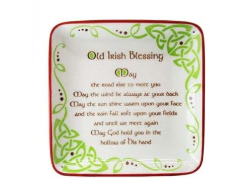 Irish Blessing Square Plate