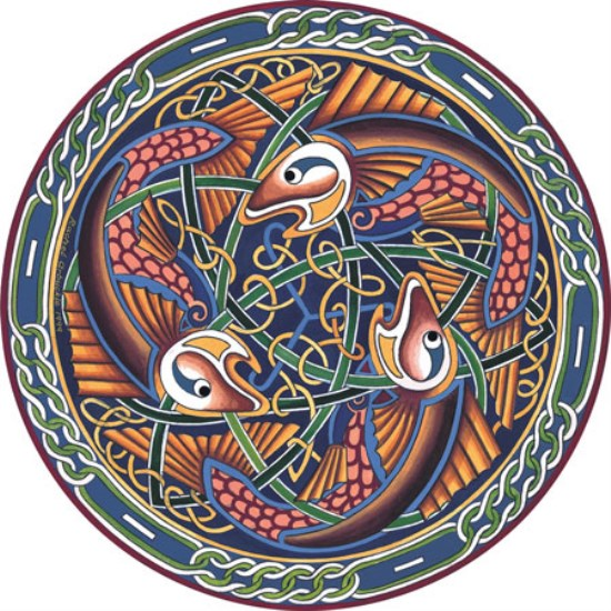 Irish Celtic Coaster - Salmon of Knowledge