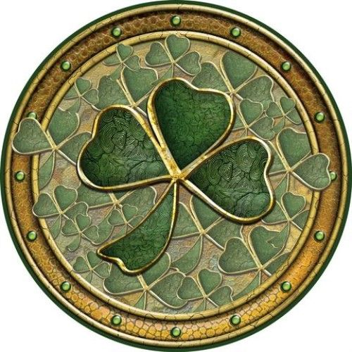 Irish Celtic Coaster - Shamrocks