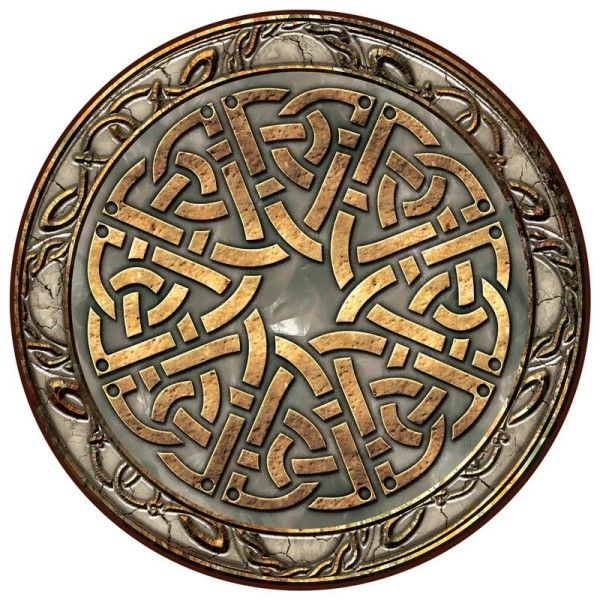 Irish Celtic Dinner Mat - Celtic Stone Strapwork