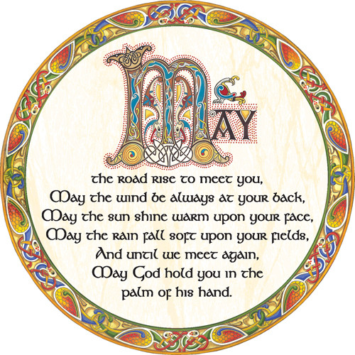 Irish Celtic Dinner Mat - Irish Blessing