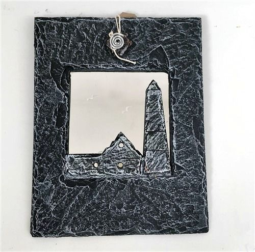 Irish Round Tower Slate Mirror