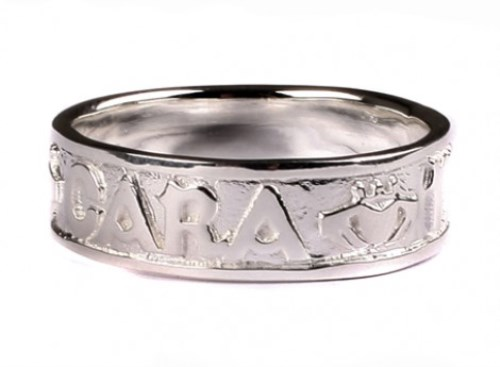 Ladies Mo Anam Cara Ring with Claddagh Detail Silver