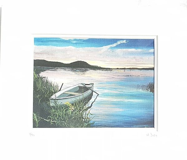 Lough Melvin Rowing Boat Print