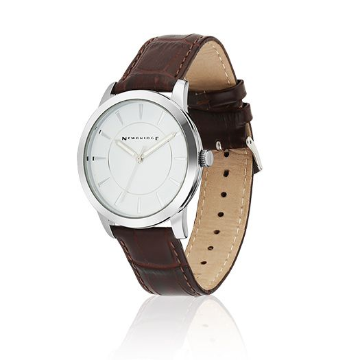 Newbridge Silverware Gents Watch With Brown Leather Strap