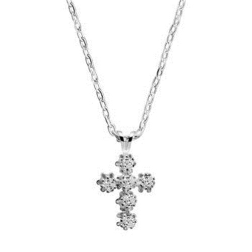 Newbridge silverware Jewellery Cross Pendant Clear