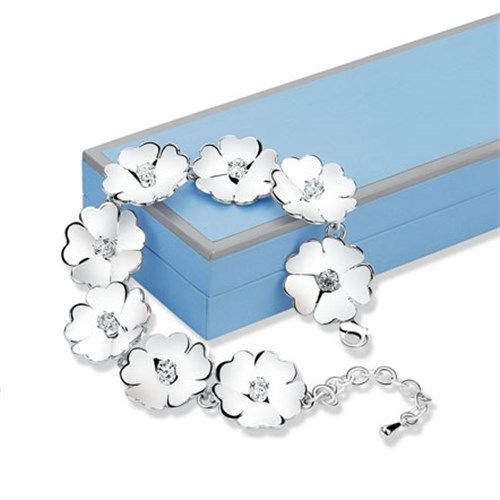 Newbridge Silverware Jewellery Waterlily Link Bracelet