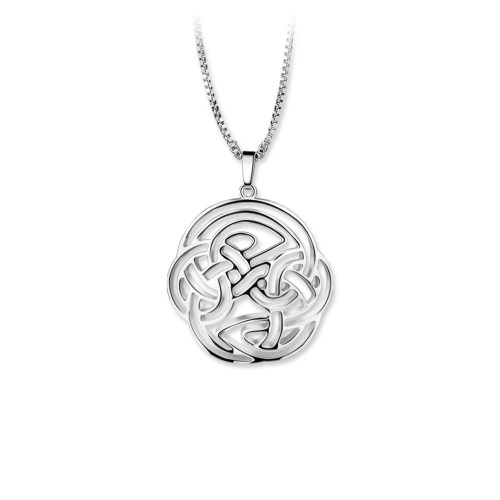 Newbridge Silverware Round Celtic Swirl Pendant