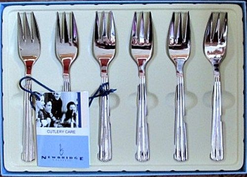 Newbridge Silverware S/S Nova Pastry Forks Set of 6