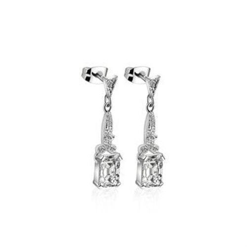 Newbridge Silverware Vintage Drop Earrings Clear Stones