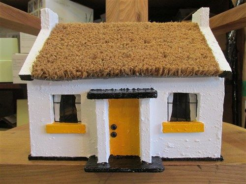 Replica Irish Thatched Cottage Yellow Door. Indoor/Outdoor