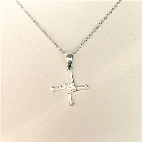 St Brigid's Cross Small Pendant Sterling Silver