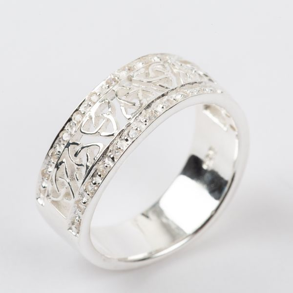Sterling Silver Celtic Trinity Knot Ladies Ring