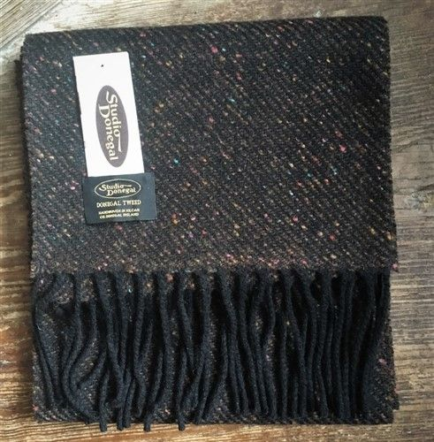 Studio Donegal Tweed Herringbone Scarf Turin