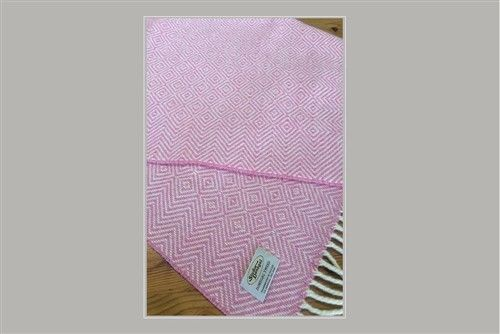 Studio Donegal Tweed Soft Baby Blanket Pink